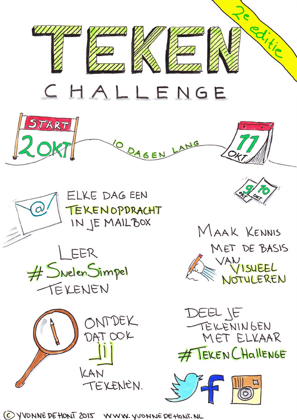 #tekenchallenge, visueel notuleren, visual notes, visual writer