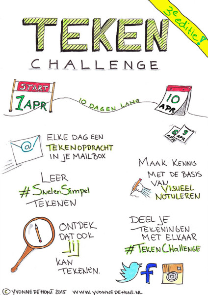 3e editie Teken Challenge, ontdek de kracht van visueel notuleren