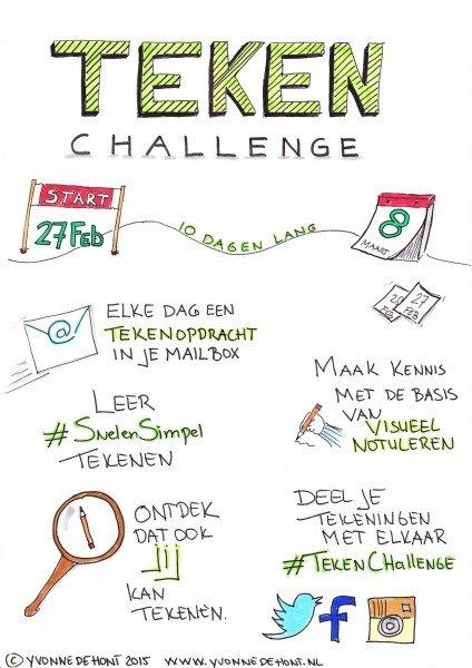 10 dagen Teken Challenge, visueel notuleren, #SnelenSimpel Tekenen
