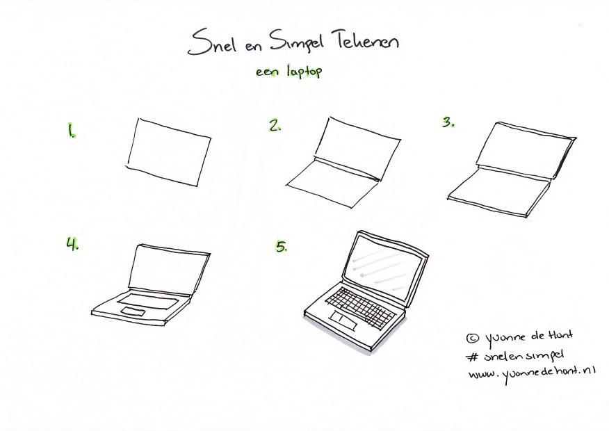 Snel En Simpel Tekenen Een Laptop Yvonne De Hont Fotografie En
