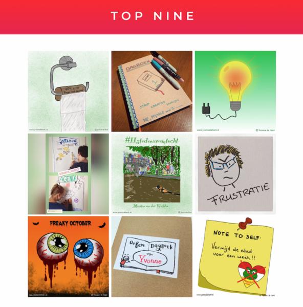 top nine instagram Yvonnetekent