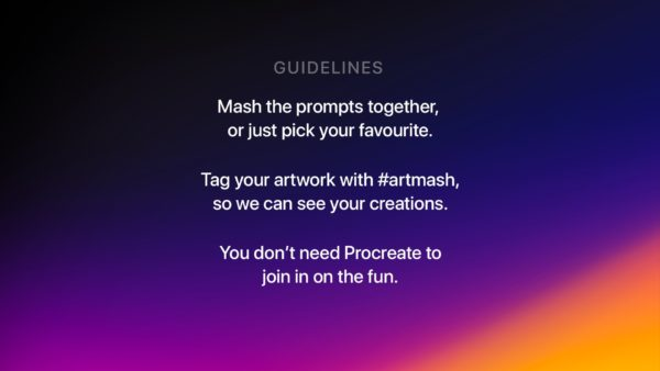 #artmash procreate challenge