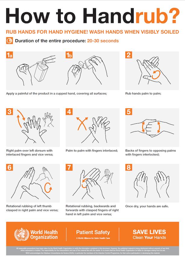 Uitleg handen wassen
