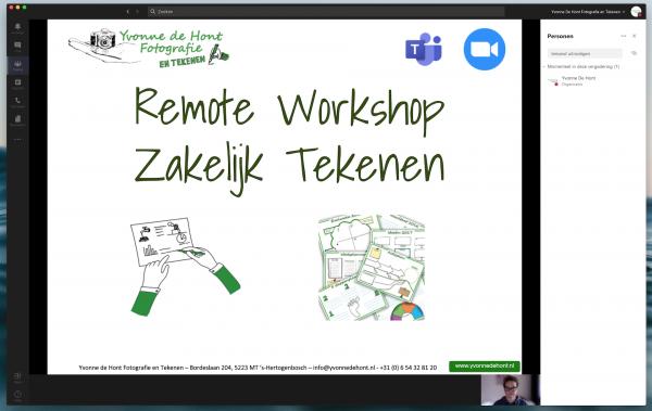 Remote workshop Smartphone Fotografie en Zakelijk Tekenen 1