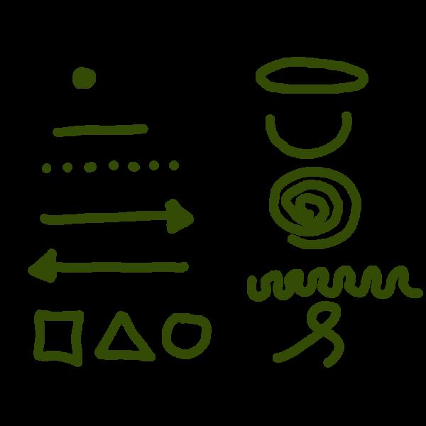 het visueel alfabet van zakelijk tekenen